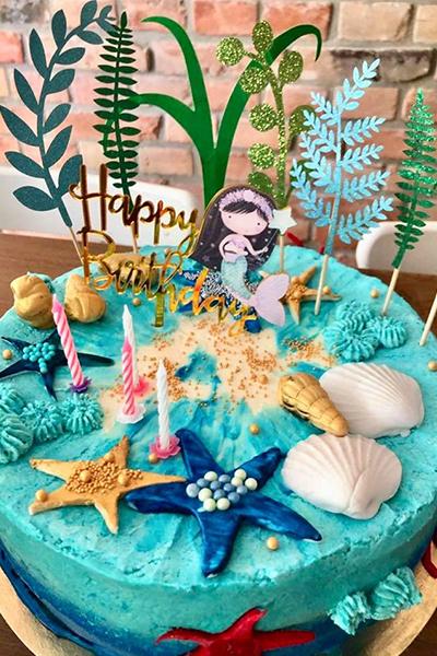Tort dziecięcy z motywem morskim na urodziny