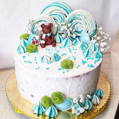 Tort urodzinowy dla dzieci z misiem