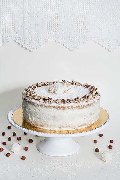 Ciasto Raffaello z orzechami laskowymi
